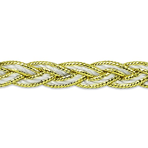 Expo IR7036SL-20 20 yd of Arcadia Metallic Braid Trim, Silver