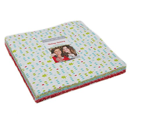 Vintage Holiday Flannels Layer Cake, 42-10 inch Precut Fabric Quilt Squares by Bonnie & Camille (Cotton Quilt Fabric Holidays)