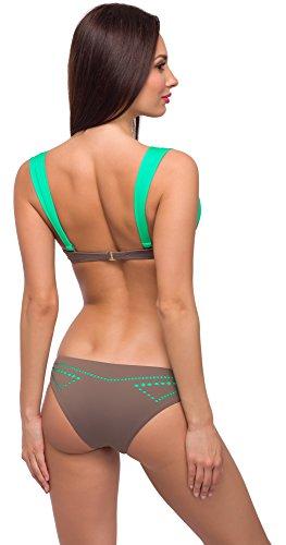 Modello Verde Style Donna Bikini Caffé Merry Completo L 55 wOqf46H4