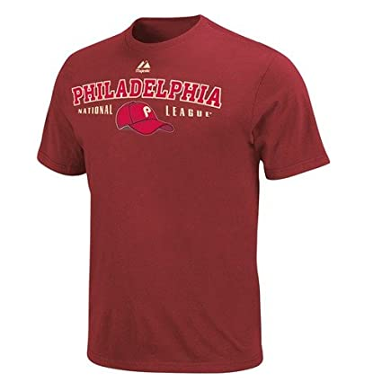 adc9109a Image Unavailable. Image not available for. Color: Philadelphia Phillies  Majestic Nostalgia Maroon Vintage T-Shirt