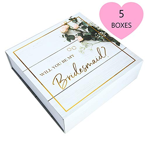 Boxes Bridesmaid Gift - Bridesmaid Proposal Box - Premium Gold Stamped