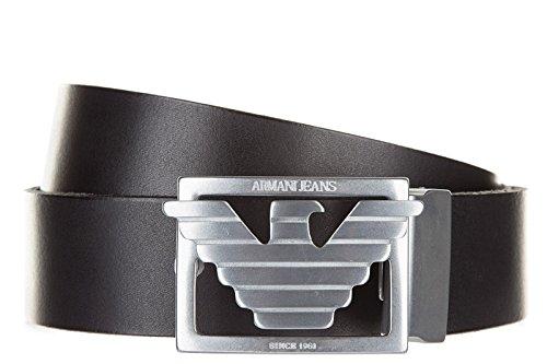 Armani Jeans men's adjustable length reversible leather belt black US size 36 931003 6A818 00020 (Armani Jeans Leather Belt)
