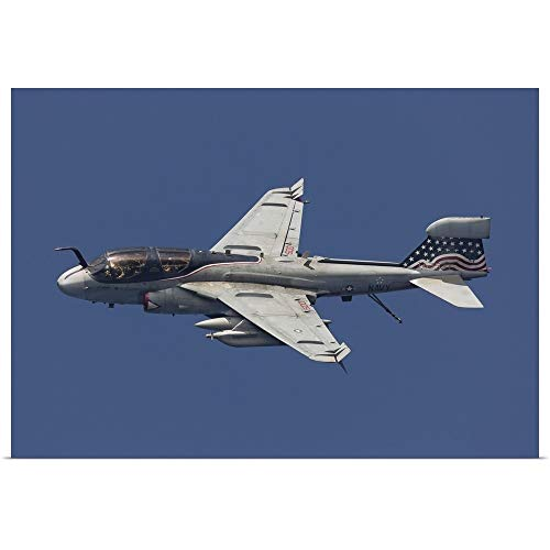 Great Big Canvas Poster Print Entitled an EA-6B Prowler in Flight Over The Arabian Sea by Gert Kromhout 24
