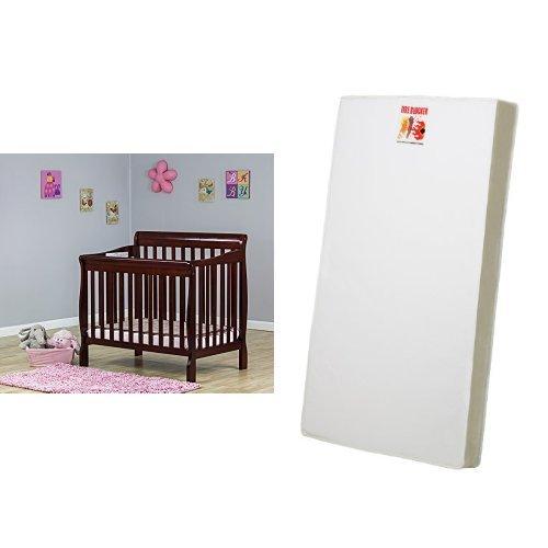 Charming Amazon.com : Dream On Me 3 In 1 Aden Convertible Mini Crib, Cherry And 3  Portable Crib Mattress, White : Baby