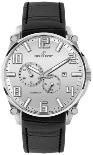 Pierre Petit Le Mans P-802B 44mm Automatic Stainless Steel Case Black Nylon Anti-Reflective Sapphire Men's Watch