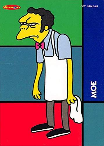 (Moe Szyslak trading card (The Simpsons, Bartender) 1996 Tempo)