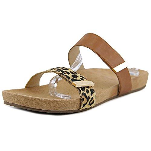 Vionic with Orthaheel Technology Womens Jura Slide Sandal Tan Leopard Size 11 by Vionic