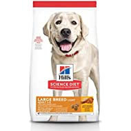 Hill's Science Diet Dry Dog Food, Adult, Large Breed, Light, Chicken Meal & Barley Recipe for Healthy Weight & Weight Management, 30 lb Bag