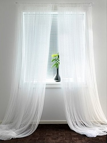 Mesh Curtain Panels : Ikea mesh lace curtains inch by pairs