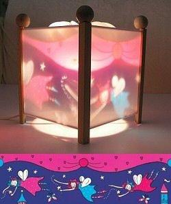 Fairies Magical Lantern Revolving Nursery Baby Girl Glow