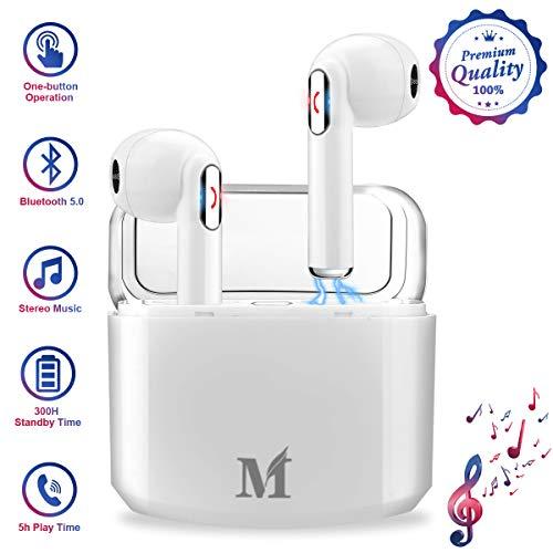 Wireless Earbuds,Bluetooth Earbuds Workout Ear Buds Wireless Headphones Bluetooth 5.0 in Ear Headphones Cordless TWS Stereo Best Wireless Earbuds with Microphone Running Sports Wireless Earphones