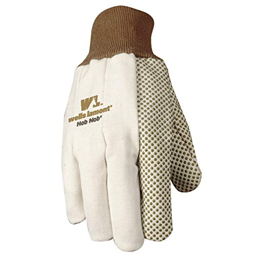 Wells Lamont Jersey Work Gloves with Hob Nob Dots, Wearpower, Basic, One Size - Jersey Wells Glove Lamont
