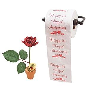 JustPaperRoses 1st wedding anniversary paper Desk Rose and TP (bundle priced) 23