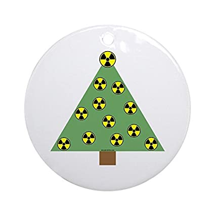 Amazoncom Funny Ornaments Nuclear Ornaments Round Xmas Holiday