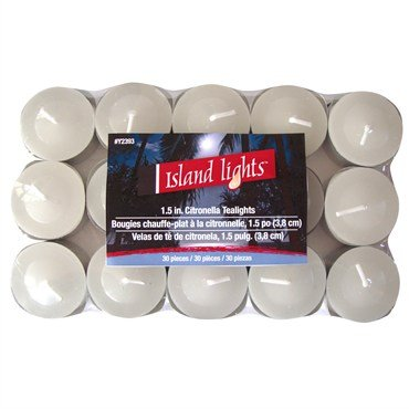 Island Lights 1.5 Inch Tealights 30 candles Citronella Bond