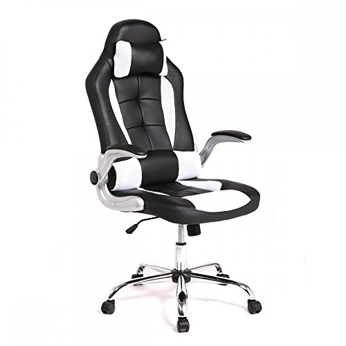 BestMassage Office Desk Gaming Chair High Back Computer Task Swivel Executive Racingchair for BackSupport with...
