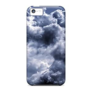 Faddish Phone Nature Clouds Gray Clouds Case For Iphone 5c / Perfect Case Cover