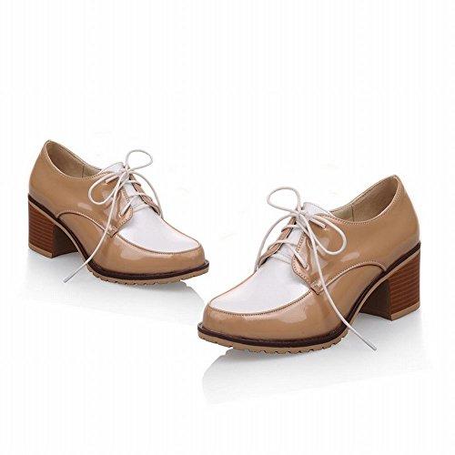Carol Scarpe Moda Donna Colori Assortiti Lace-up Casual Scarpe Chunky Mid Heel Oxford Con Aprioct