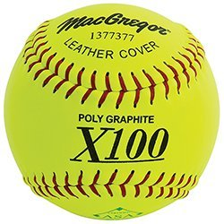 Macgregor x52re asa Slow Pitch Leather Softball, 12-Inch (One Dozen) by Macgregor
