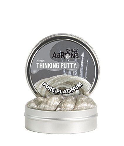 Platinum Metal - Crazy Aaron's Thinking Putty, 1.6 Ounce, Precious Metals Pure Platinum