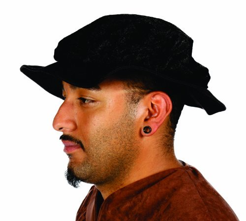 Alexanders Costumes Renaissance Male Hat, Black, One Size