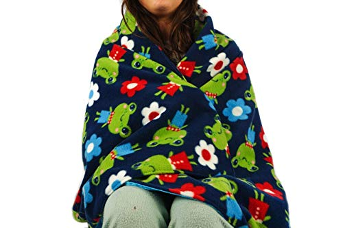 Fleece throw blanket- Happy frog by Created by Laura