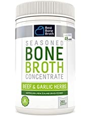 BONE BROTH CONCENTRATE Premium Beef Bone Broth Concentrate Garlic Herb Flavour - Maximized Nutrition Bone Broth On The Go - No Hormones or Additives, Delicious Natural Flavor, Sourced From AU & NZ Beef