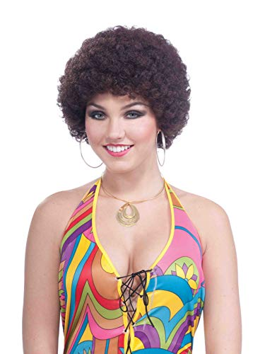 Forum Novelties Party Afro Wig, Brown -