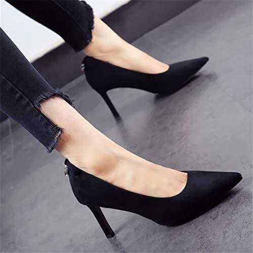 YMFIE Zapatos Mujer del Alto Dulce del red de Zapatos de la Boda Boca Zapatos Arco Banquete de tacón Estilete Baja raqxYgr