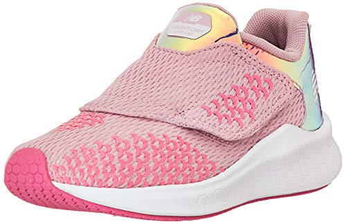 New Balance Girls' Airplane V1 Running Shoe, Oxygen Pink/Light Carnival, 9 W US Toddler