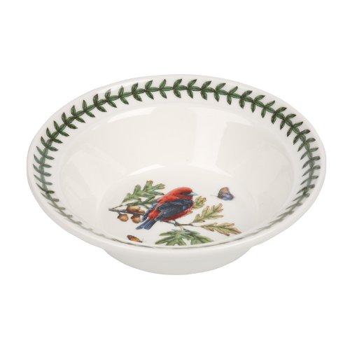 PORTMEIRION BOTANIC GARDEN BIRDS Oatmeal bowl scarlet tanager