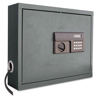 - Atlantic Metal Wall-Mount Laptop Computer Cabinet - 20-5/8 X5-1/4 X19-1/2