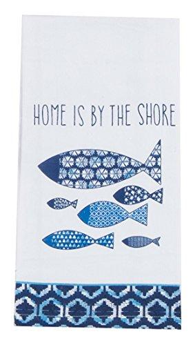 Kay Dee Designs R4035 Water's Edge Krinkle Fish Flour Sack (Fish Flour)