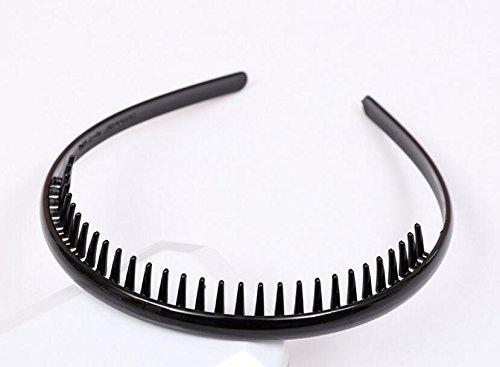 Gudhi - Diadema unisex de acrílico con dientes, color negro