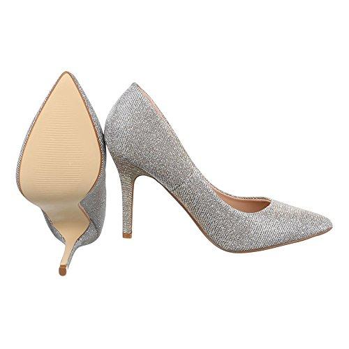 Ital-Design - Zapatillas de casa Mujer Gold 9968-8