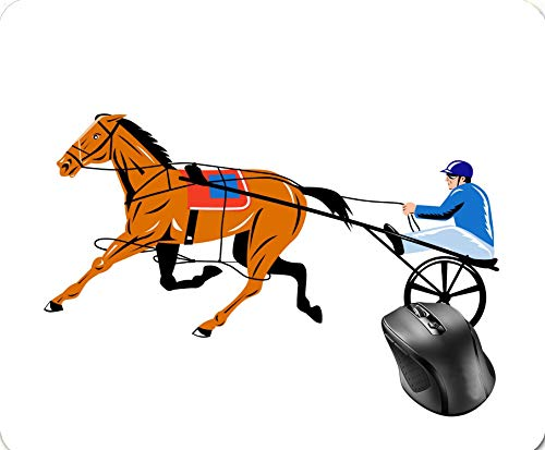 SHAQ Harness cart Horse Racing Sulkies Mouse Pad 8.6 X 7.1 in