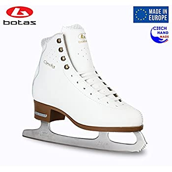 Image of Botas - Model: Cindy/CEZAR/Made in Europe (Czech Republic) / Ice Skates/Women, Girls, Men, Boys, Kids/Leather/Stretchy Cuff/Spirit Blades Figure Skates