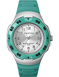 Timex Women's Marathon T5K581C2 Silver Dial and Green Strap