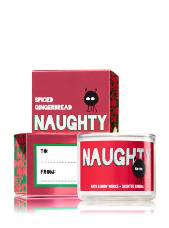 Bath & Body Works Mini Candle Naughty Spiced Gingerbread