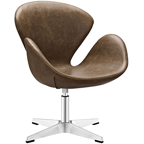 Modway Flight Upholstered Vinyl Lounge Chair