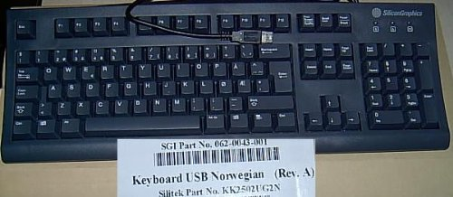 - *NEW* NORWEGIAN NORWAY ENGLISH USB KEYBOARD GREAT FOR PCS OR MACS - Foreign Keyboard - Norway