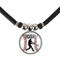 SpotlightJewels Personalized Baseball Batter/Hitter Necklace with Your Name