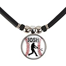 Personalized Baseball Batter/Hitter Necklace with Your Name
