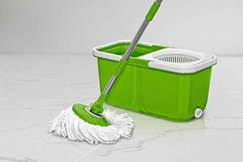 Instamop Big Boss Spinning Action Mop with Bonus Head, Green