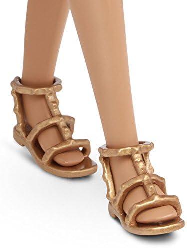 Mattel Barbie DMF26 - Modepuppe, Fashionista im asymmetrischen rot/schwarzen Kleid, bunt