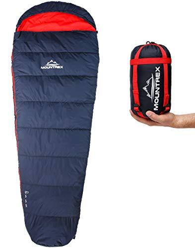 MOUNTREX® Schlafsack – Kleines Packmaß & Ultraleicht (730g/1500g) – Outdoor Sommerschlafsack (100GSM) / 3-4 Jahreszeiten…