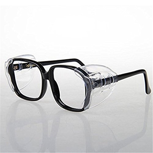 VIEEL Slip On Clear Side shields for safety glasses, Safe...