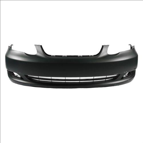 CarPartsDepot 352-44312-10-BK Front Bumper Cover To1000298 Raw Black Spoiler Hole TO1000298 (Toyota Corolla 06 Front Bumper compare prices)