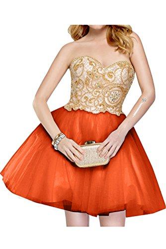 Tuell Festkleid Orange Kurz Partykleider Herzform Perlen Ivydressing Damen Neu Cocktailkleider nYqnA10w