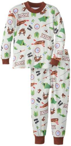 Larga clásica Pijamas de Sara Prints Little Boys , Campamento de verano, 6 Color
